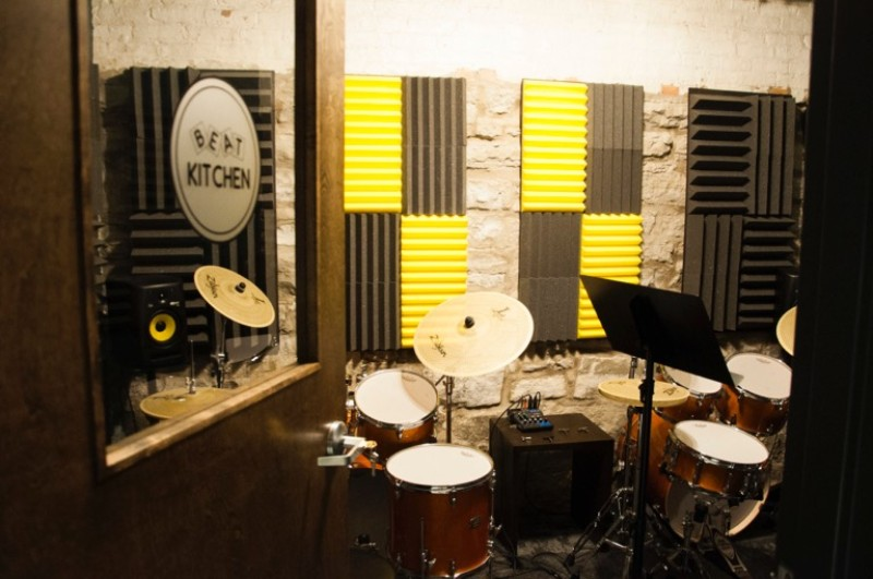 Drum lessons on quality Yamaha kits in the Beat Kitchen drum lesson room