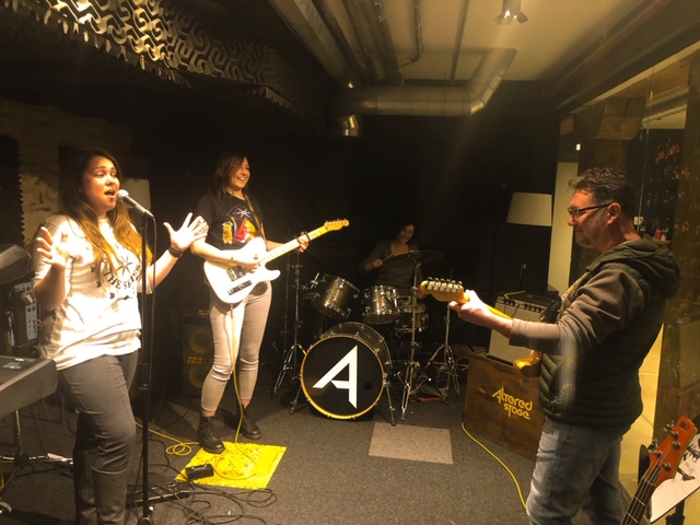 Impromptu jam session at altered stage studio